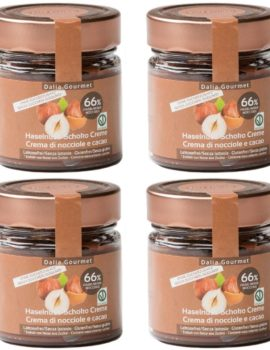 Crema di nocciole e cacao con 66% di nocciole